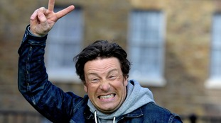 Jamie Oliver celebrated the announcement outside Westminster