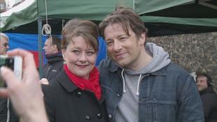 Leanne Wood Jamie Oliver