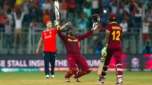 Gayle century destroys England in World Cup T20 opener