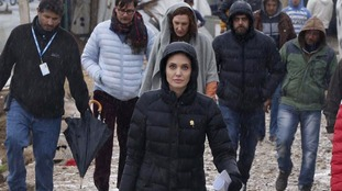 Angelina Jolie visits refugees in Lebanon as Syria marks five years since war broke out
