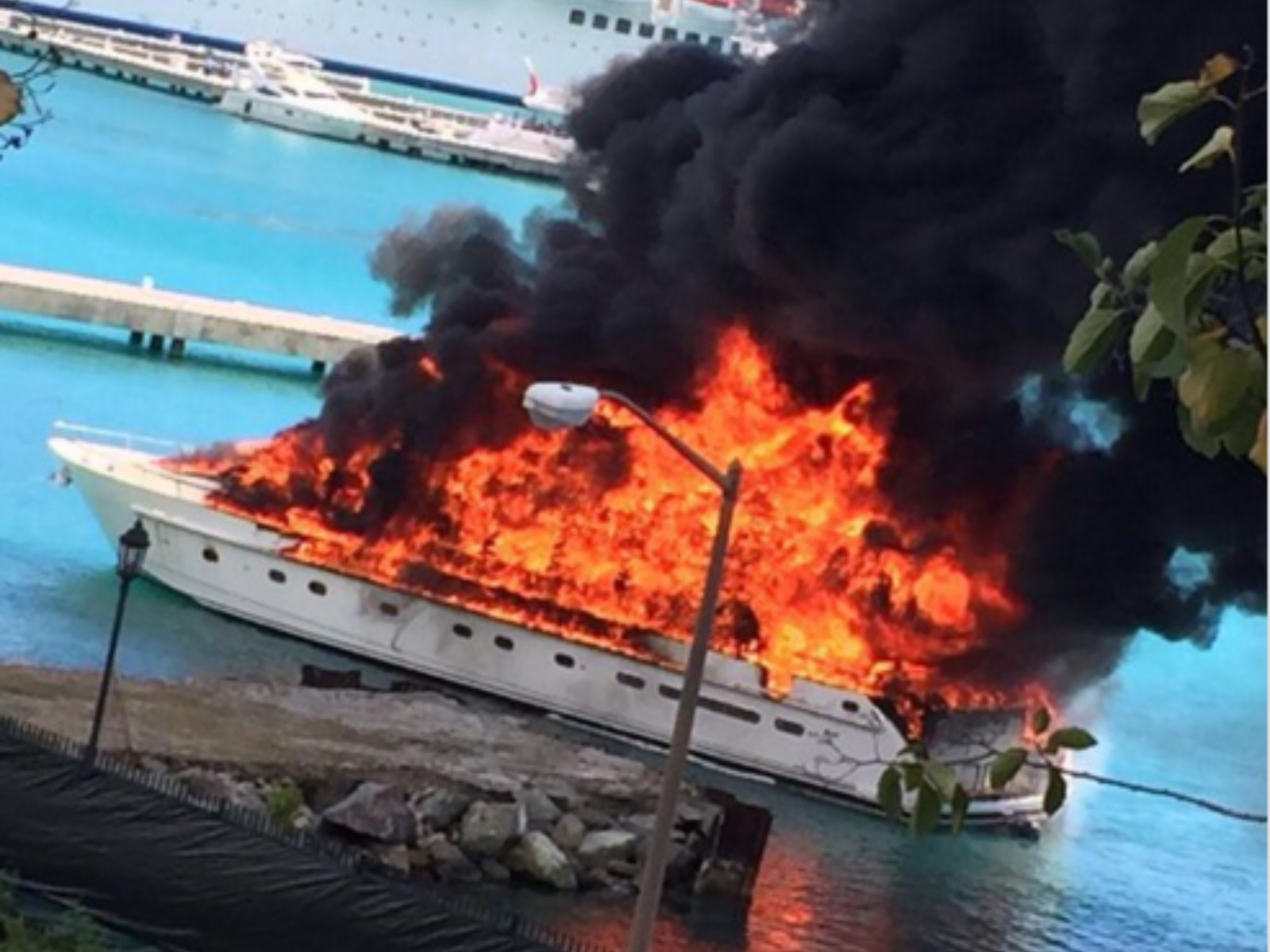 Huge Fireball As 163 2m Luxury Yacht Goes Up In Flames Itv News