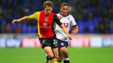 Liam Feeney will spend the rest of the season at Portman Road.
