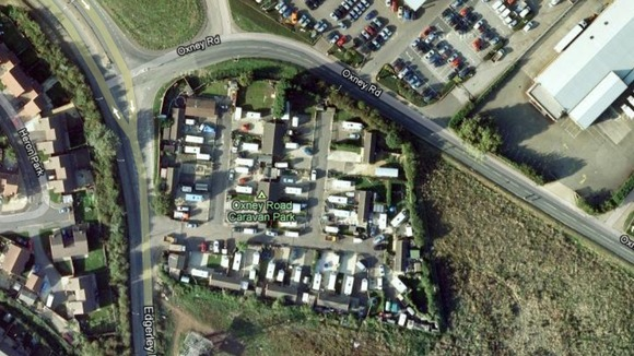 Google map image of Oxney Road Caravan Park