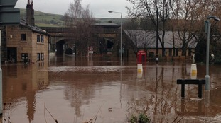 Flooded Calder Valley