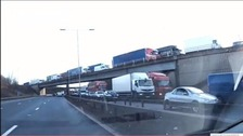 Traffic was at a standstill on the M6