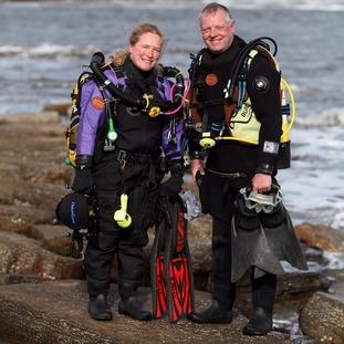 Nicola Faulks and her partner Simon Smith, of Tyneside SAC.