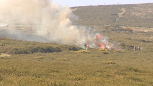 Burning of all the dead gorse dying and decaying there.