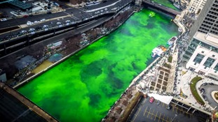 Chicago dyes river green for St Patrick's Day