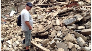 Phil Llewllyn was in Nepal when a second powerful earthquake hit