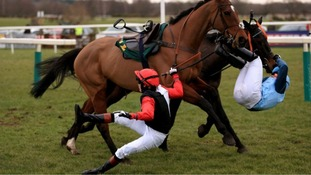 Victoria Pendleton was unseated in February, riding Pacha Du Polder at Fakenham