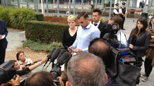 Ian Tomlinson's stepson, Paul King speaking to the media