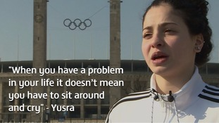 Syrian refugee swimmer trying to qualify for Olympics: 'When you have a problem you don't have to sit around and cry'
