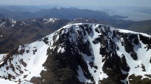 The mountain's summit