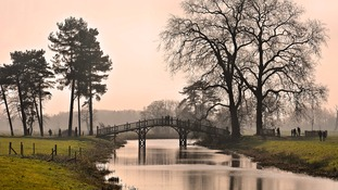 The Chinese Bridge in Croome Abbey Park