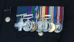 Warrant Officer Hughes' medals