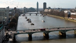 The drama unfolded near Westminster Bridge