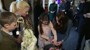 Rebekah Hughes with the Duchess of Cambridge