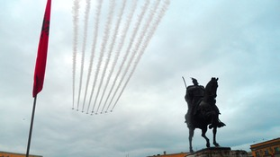 Red Arrows visit Albania for the first time