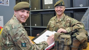 Like father, like son for Hull student soldier