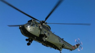 Sea King helicopter bids farewell