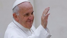 "Pope Francis announced he was beginning a ""new journey"""