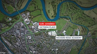 The girl was grabbed on Victoria Place.