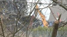 Digger at Didcot Power Station
