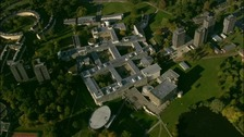 Aerial shot of the University of Essex