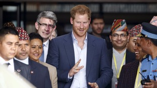Prince Harry was given a warm welcome as he arrived in Kathmandu on the first day of his five-day visit