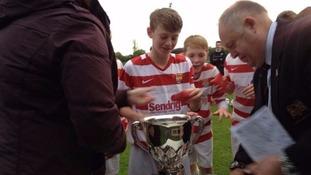 Taylor Atherton played for Cramlington Juniors Under 15s