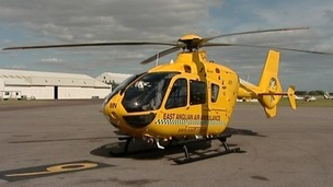 East Anglian Ambulance Service helicopter