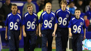 The Everton ball boys wore the number 96 on the shirts as a sign of respect for people who dies 23 years ago