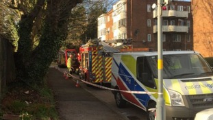 More than 35 people evacuated from a building after fire in a basement