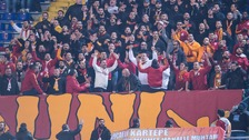 Galatasaray supporters at a match in February