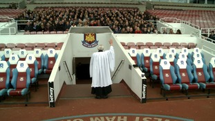 The service was held inside the Boleyn Ground by the club's chaplain