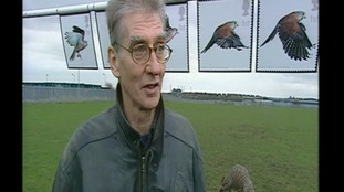 Barry Hines in 2003 when he returned to the scene of the film Kes