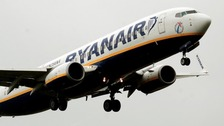 Ryanair flights are affected by the strike action in the Midlands.