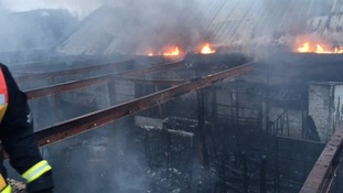 70 firefighters tackle huge industrial fire in east London