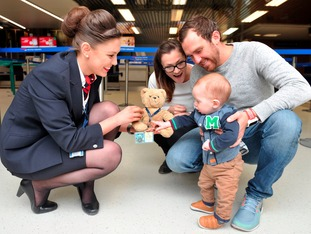 Teddy lost in Argentina and reunited at Leeds Bradford Airport