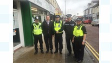 Cleveland Police and Crime Commissioner Barry Coppinger and Temporary Chief Constable Iain Spittal on the beat