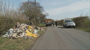 Flytipping is a persistent problem for many rural areas.