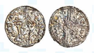 The silver Anglo-Saxon penny was made between 1035 and 1040.