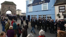 The crew of HMS Monmouth exercise the Freedom of Monmouth
