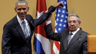 Tensions laid bare in joint US-Cuba news conference