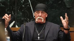 Hulk Hogan testifying in court during his trial against Gawker Media.