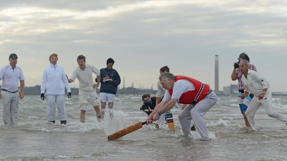 Cricket match in Solent