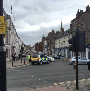 The package was found near to Old Shire Hall on Old Elvet in Durham just before 9.30am today