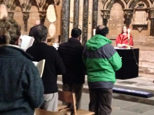 Prayers at Durham Cathedral