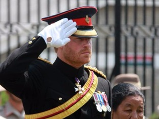 The Prince laid a wreath with a tribute to the 10 fallen Gurkhas