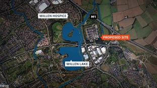 There are fears that a proposed concrete factory will ruin tranquility of hospice in Milton Keynes.
